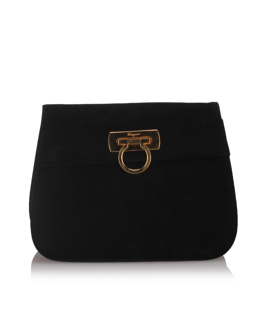 Image for Ferragamo Leather Gancini Crossbody Black