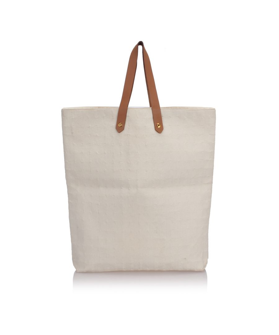 Image for Hermes Ahmedabad Tote White