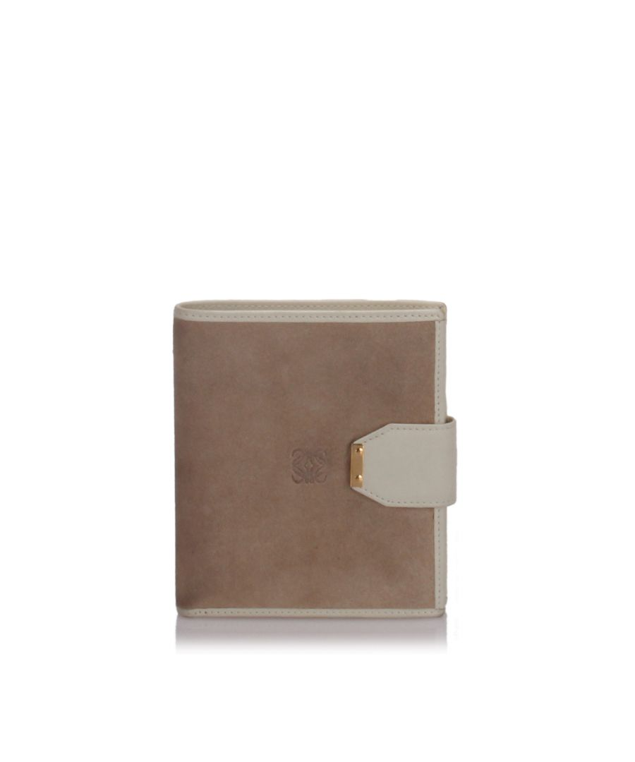 Image for Loewe Suede Small Wallet Brown