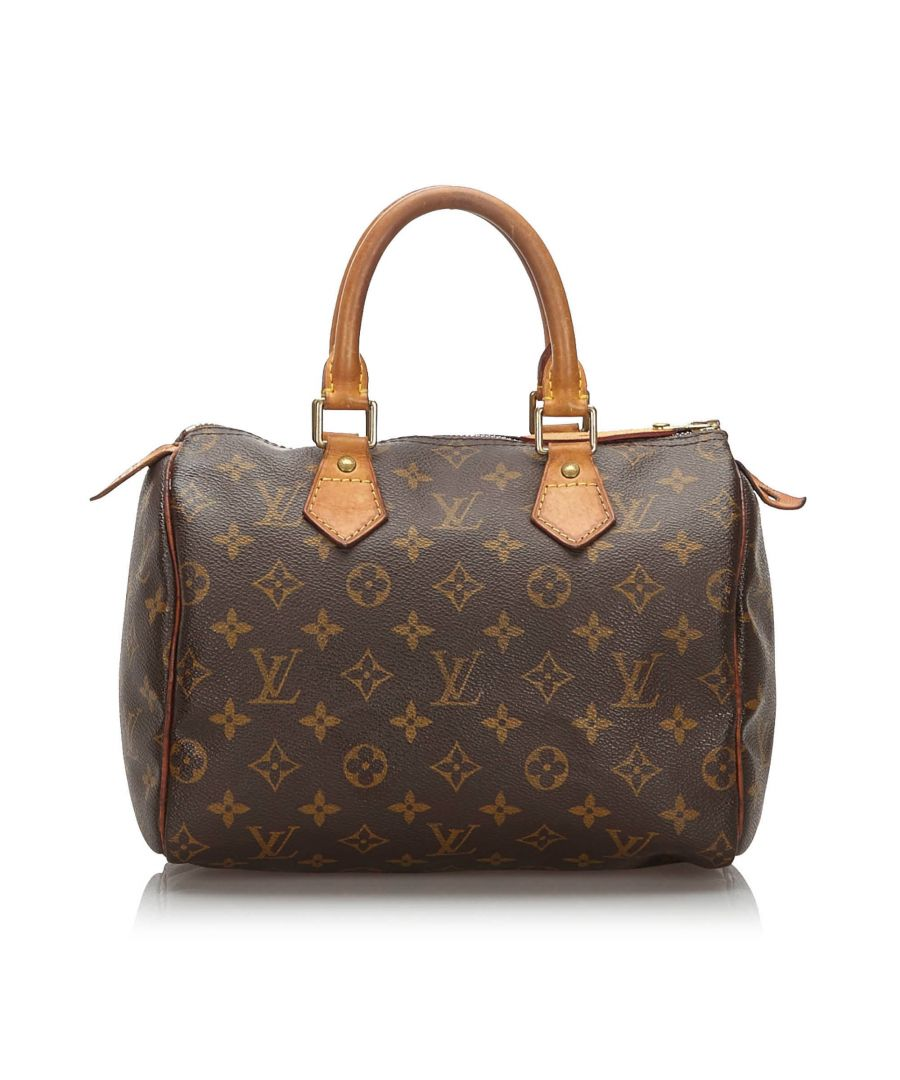 Image for Louis Vuitton Monogram Speedy 25 Brown
