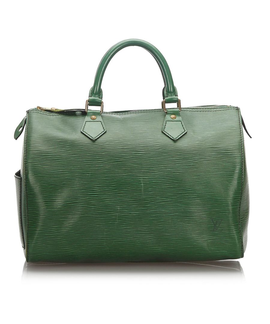 Image for Vintage Louis Vuitton Epi Speedy 30 Green