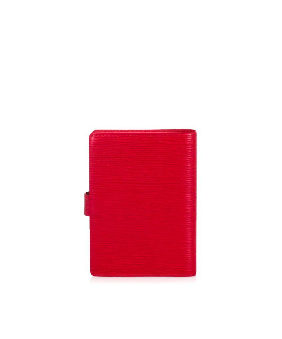 Image for Louis Vuitton Epi Agenda PM Red