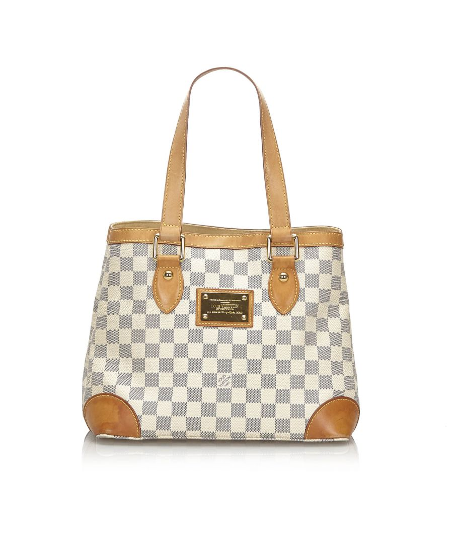 Image for Vintage Louis Vuitton Damier Azur Hampstead PM White