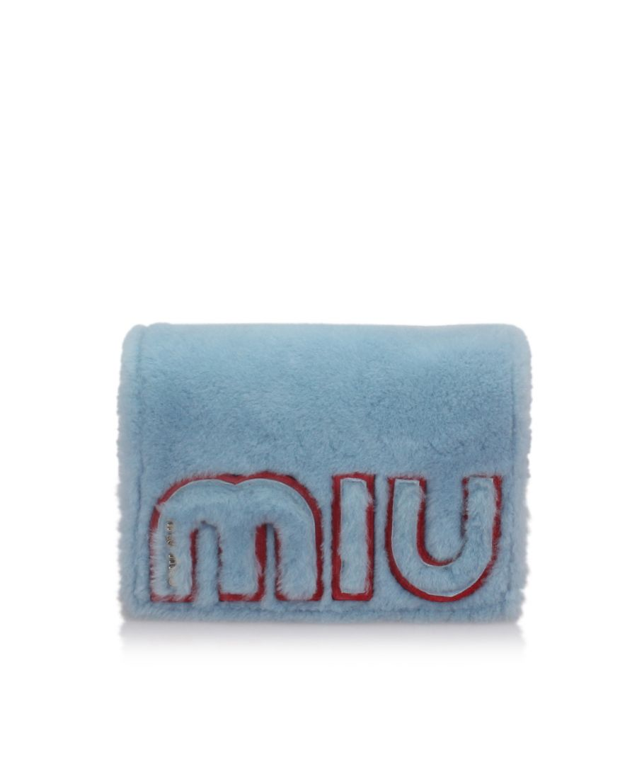 Image for Miu Miu Shearling Crossbody Bag Blue