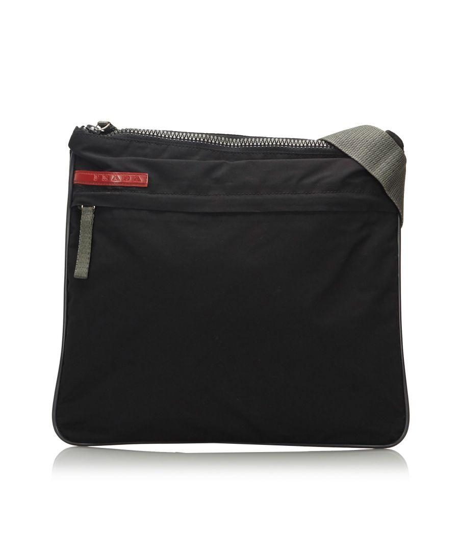 Image for Vintage Prada Sports Nylon Crossbody Bag Black