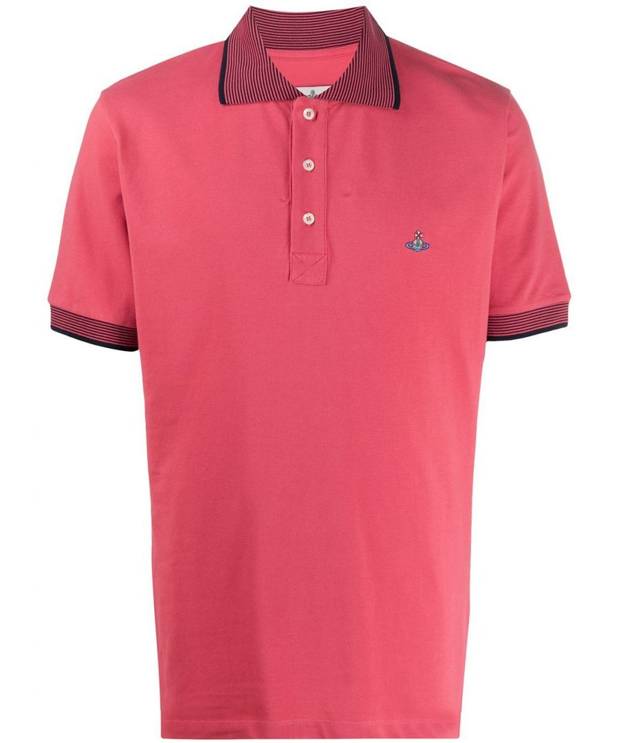 Image for VIVIENNE WESTWOOD MEN'S S25GL0050S231420250 PINK COTTON POLO SHIRT