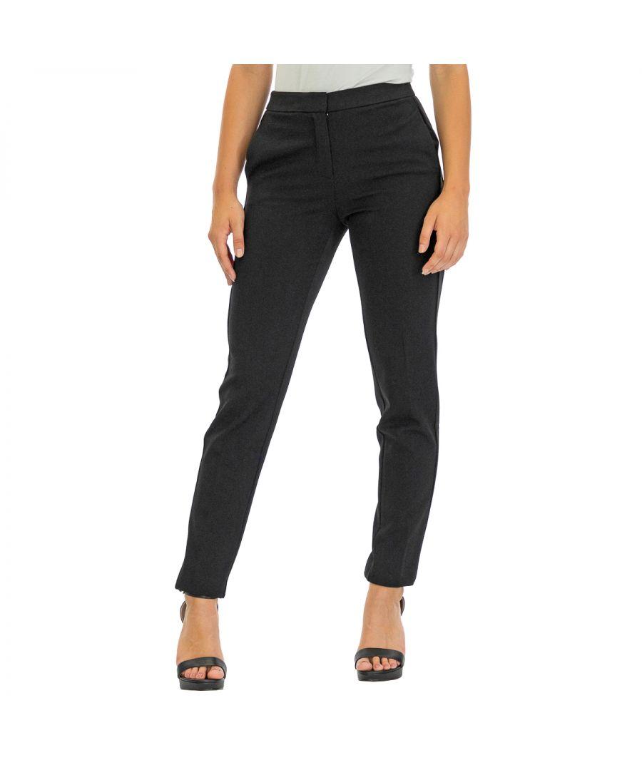 Image for Tommy Hilfiger Women's Pants Fauna Ankle Length Black