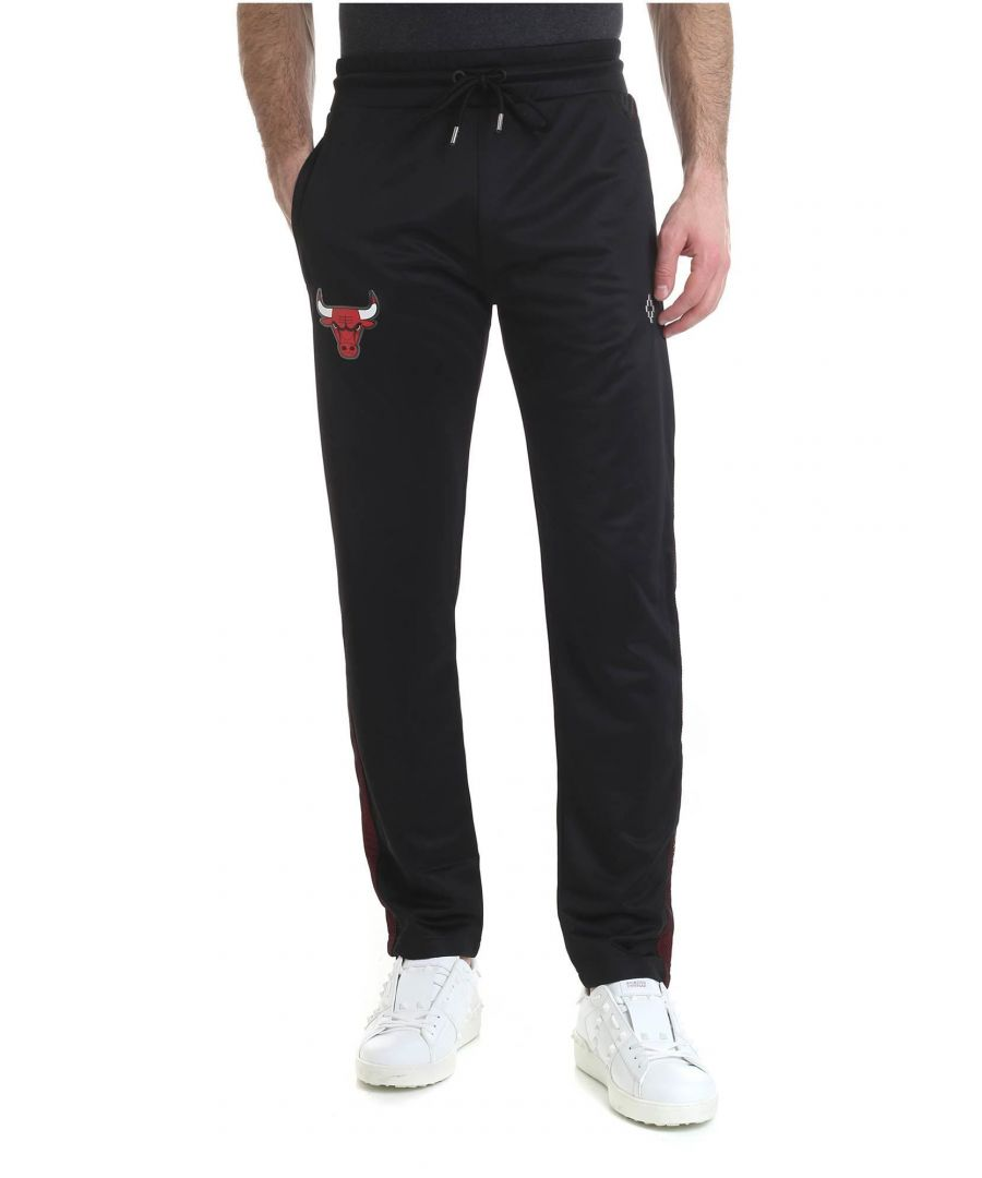 Image for MARCELO BURLON MEN'S CMCA129R198880971020 BLACK POLYESTER JOGGERS