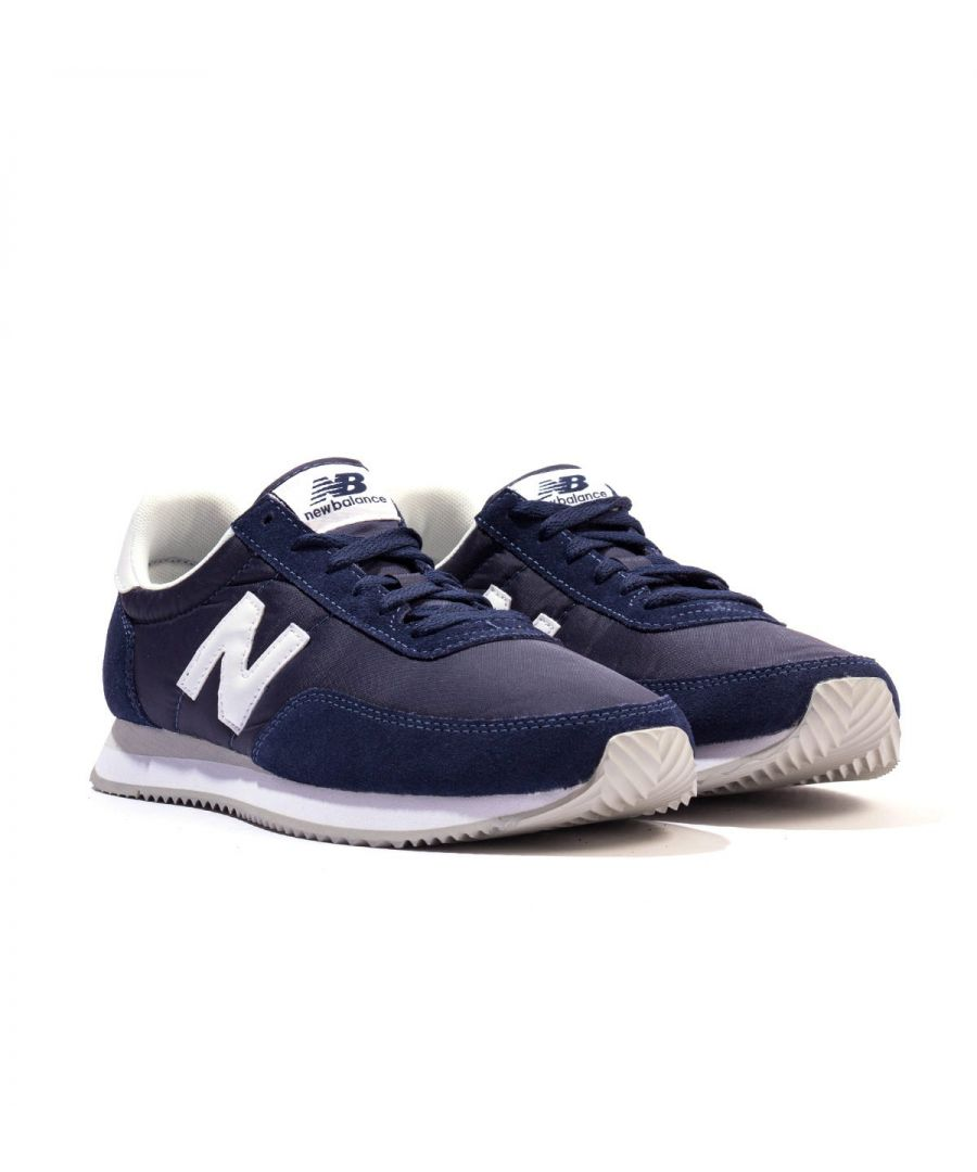 Image for New Balance 720 Suede & Mesh Trainers - Navy