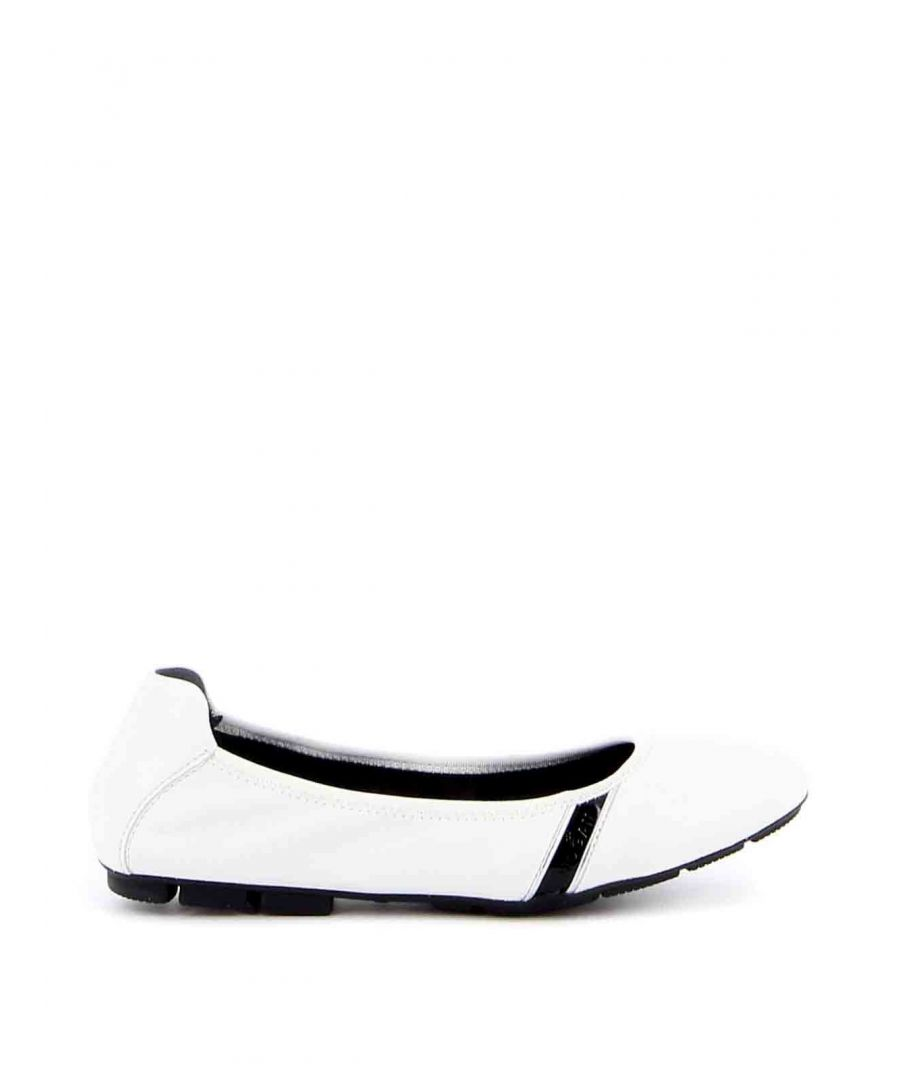 Image for HOGAN WOMEN'S HXW5110CP80N9I04A3 WHITE LEATHER FLATS