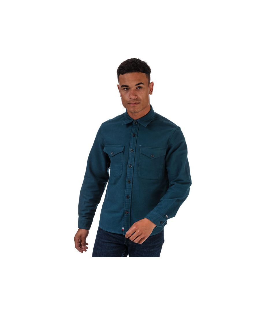 Image for Tommy Hilfiger Men's Moleskin Relaxed Fit Overshirt in Dark Blue