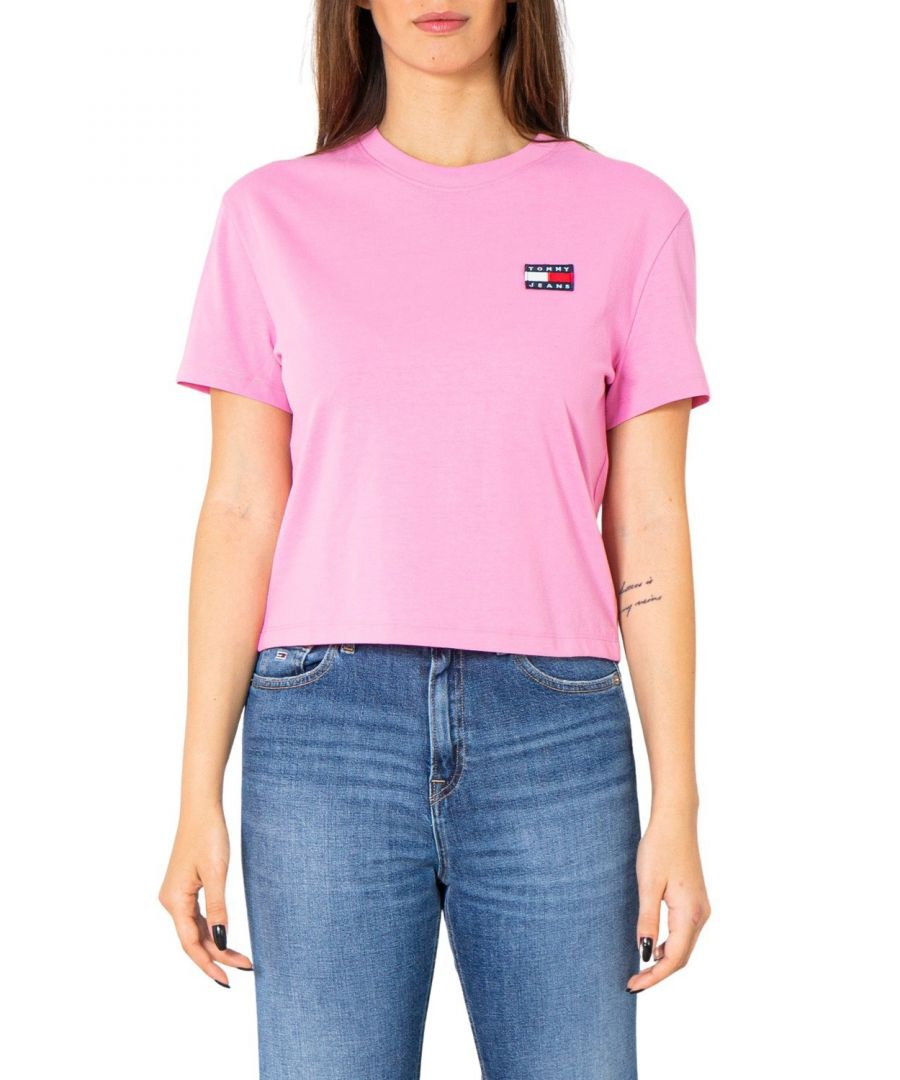Image for Tommy Hilfiger Jeans Women's T-Shirt In Pink