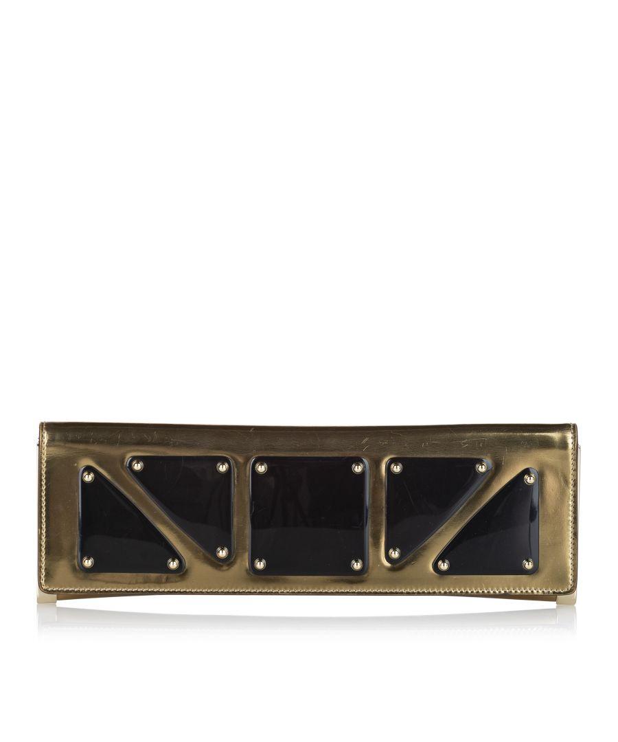 Image for Vintage Gucci Leather Clutch Bag Gold