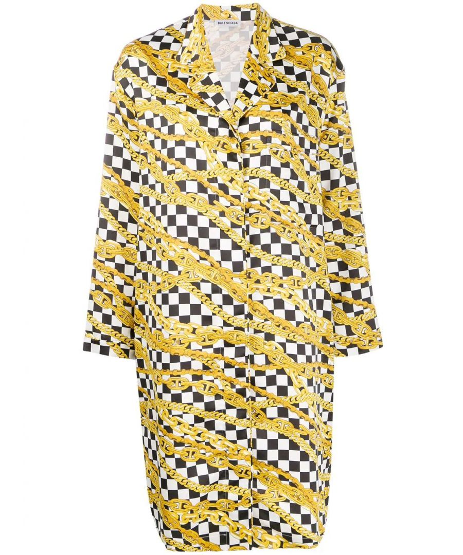 Image for BALENCIAGA WOMEN'S 602451TGL091070 GOLD SILK DRESS