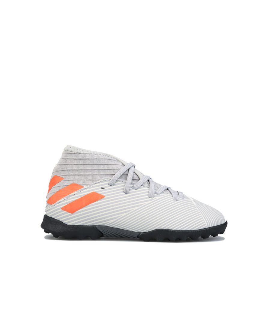 Image for Boys' adidas Junior Nemeziz 19.3 Turf Football Boots in Grey