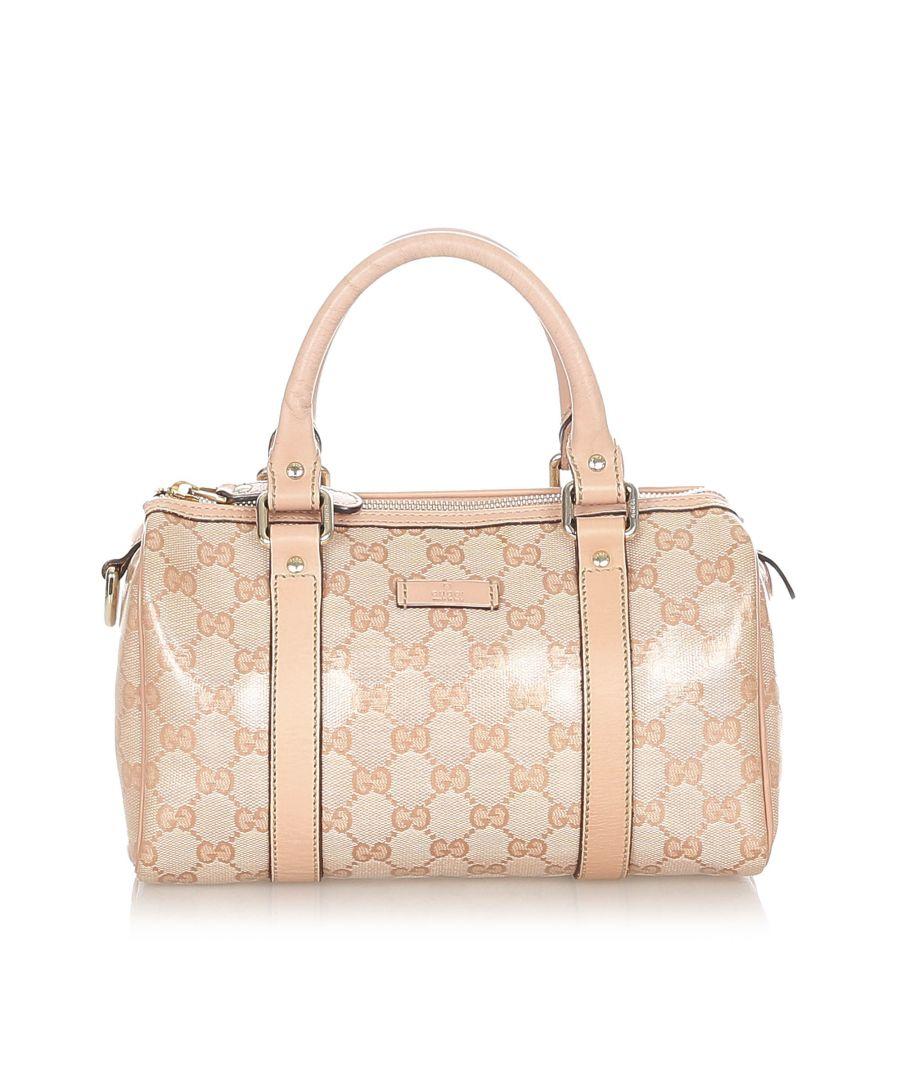 Image for Vintage Gucci GG Crystal Joy Boston Bag Pink