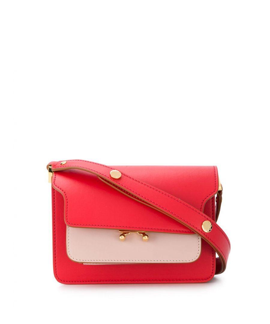 Image for MARNI WOMEN'S SBMPS01U20LV589Z259M RED LEATHER SHOULDER BAG