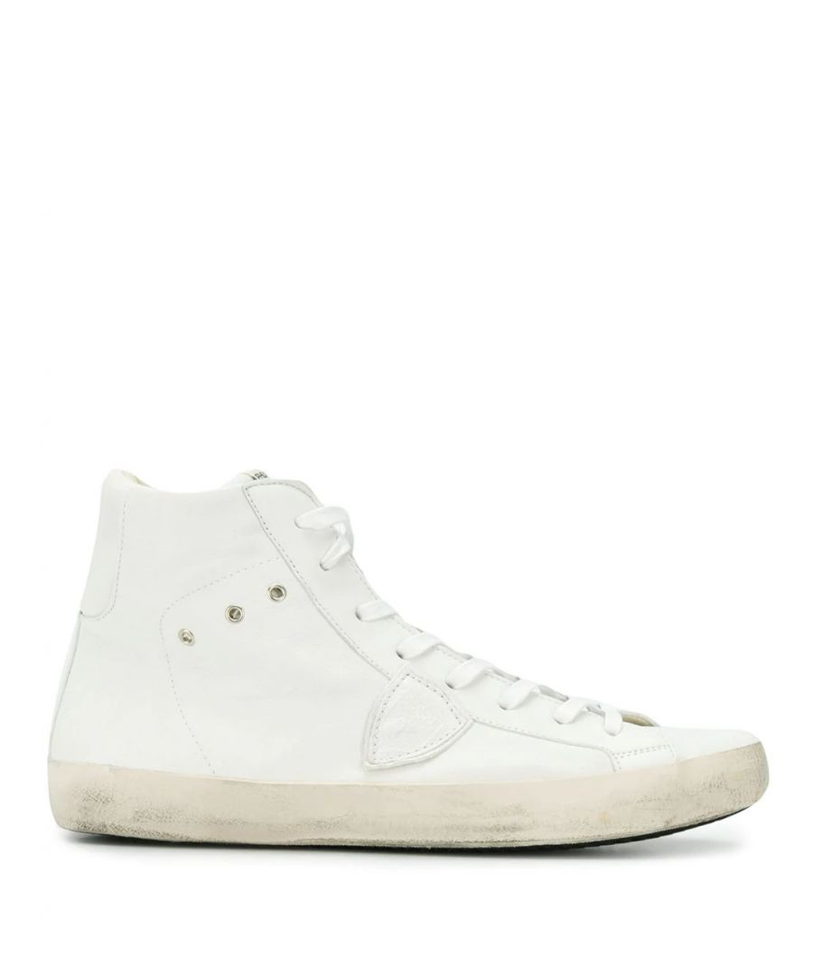 Image for PHILIPPE MODEL MEN'S CLHUWW25 WHITE LEATHER HI TOP SNEAKERS