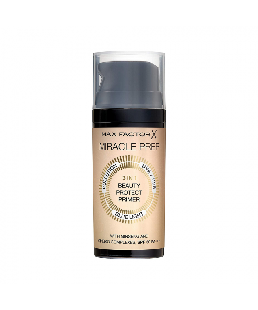Image for New Max Factor Miracle Prep 3in1 Beauty Protect Primer SPF30 30ml