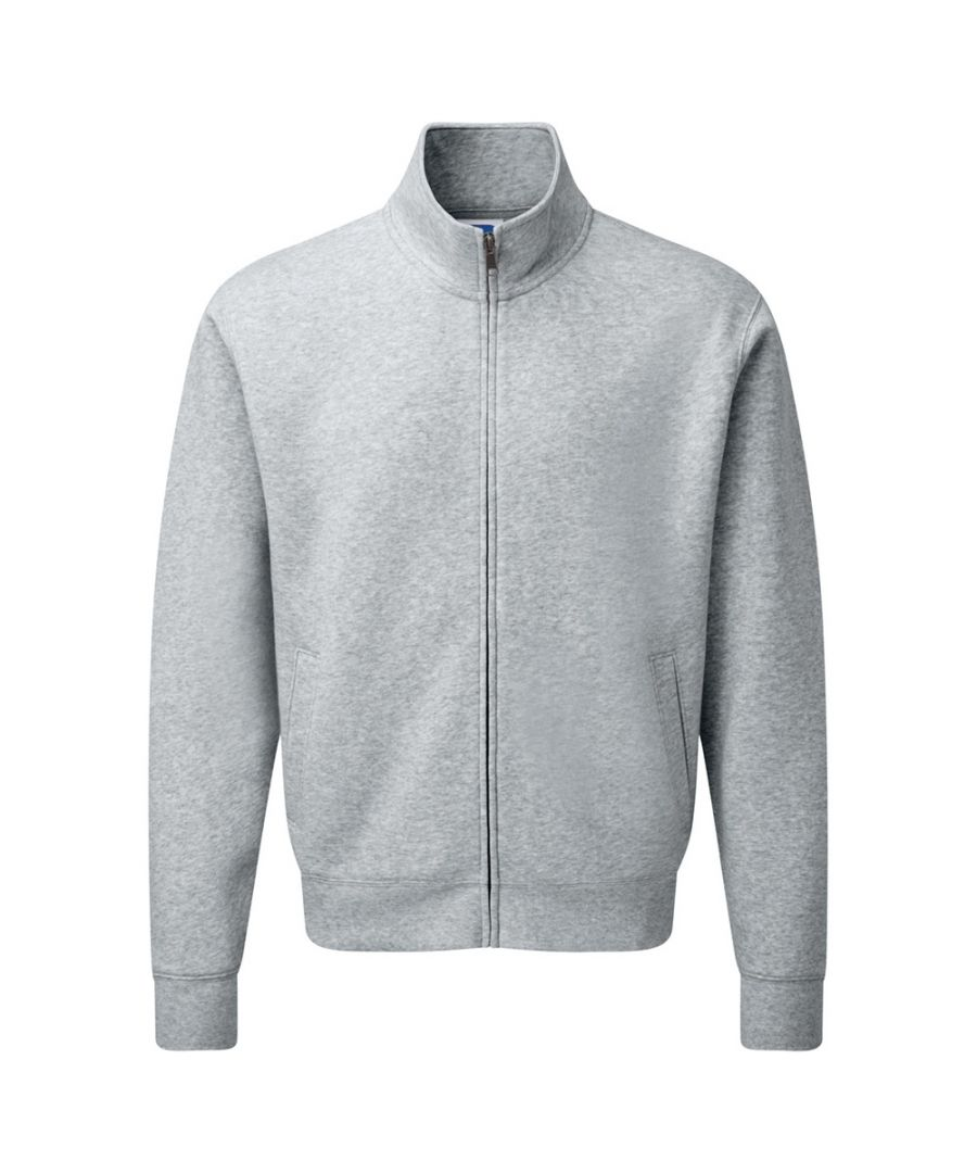 Image for Russell Mens Authentic Full Zip Sweatshirt Jacket (Light Oxford)