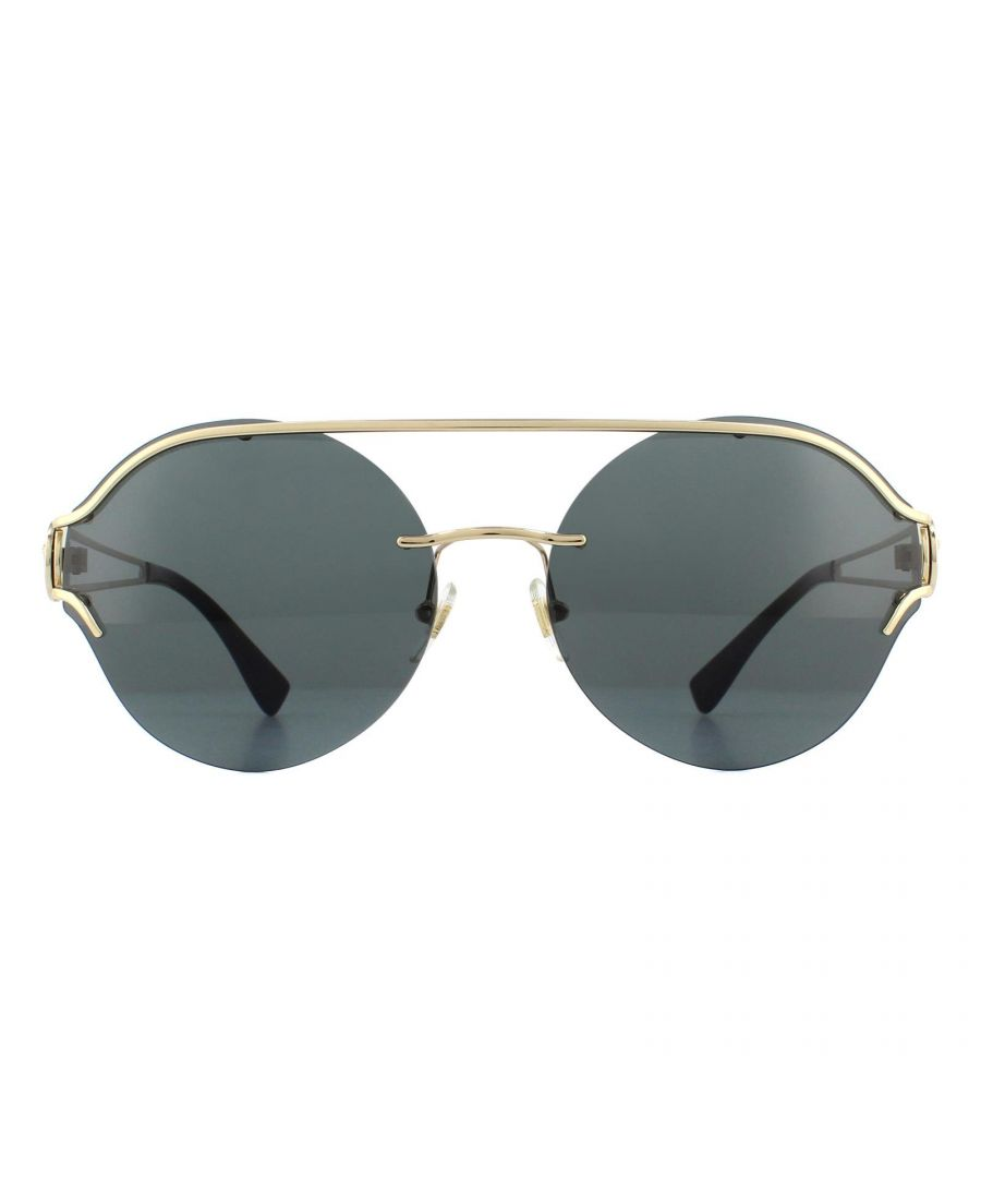 Image for Versace Sunglasses VE2184 125287 Pale Gold Grey