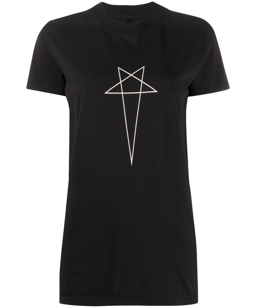 Image for DRKSHDW BY RICK OWENS WOMEN'S DS20S5205RNEP60908 BLACK COTTON T-SHIRT