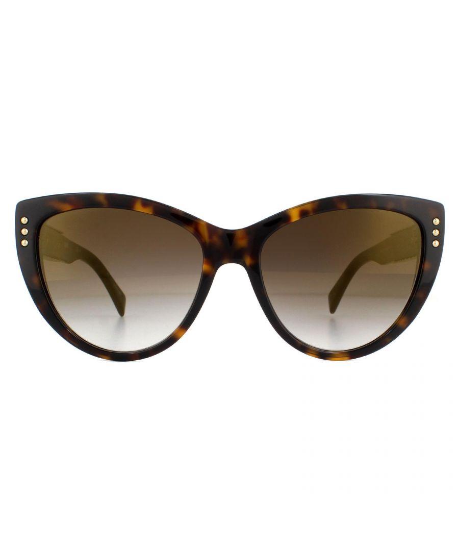 Image for Moschino Sunglasses MOS018/S 086 JL Dark Havana Brown Gold Mirror