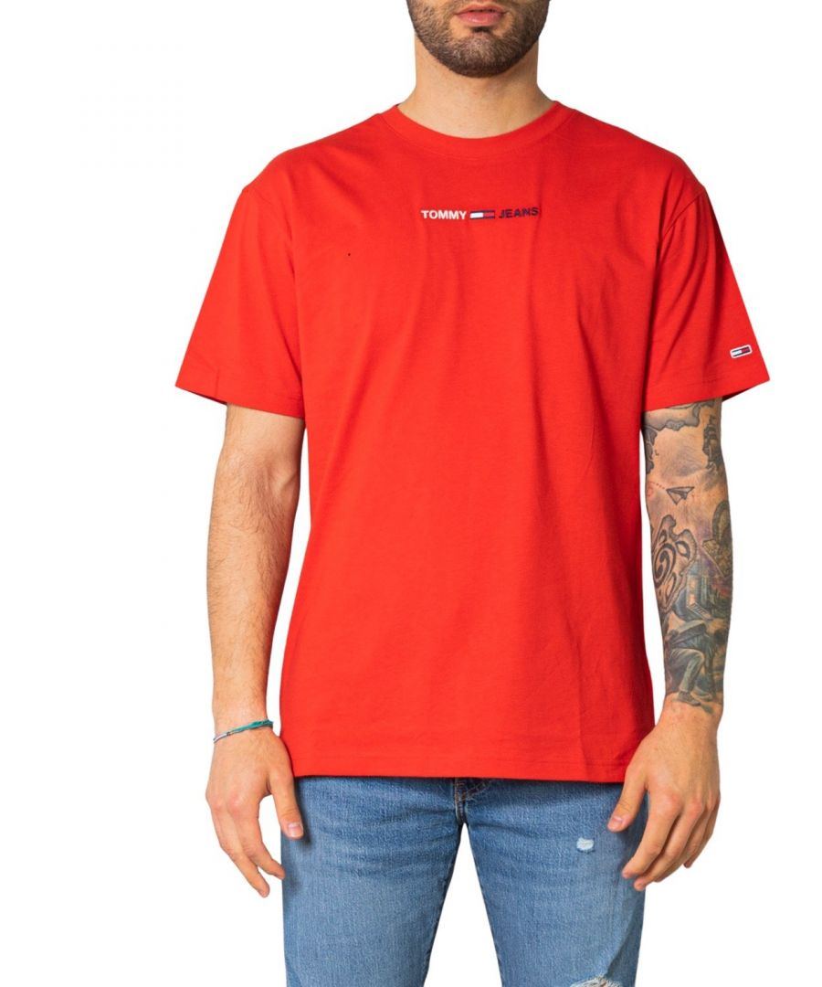 Image for Tommy Hilfiger Jeans Men's T-Shirt in Red