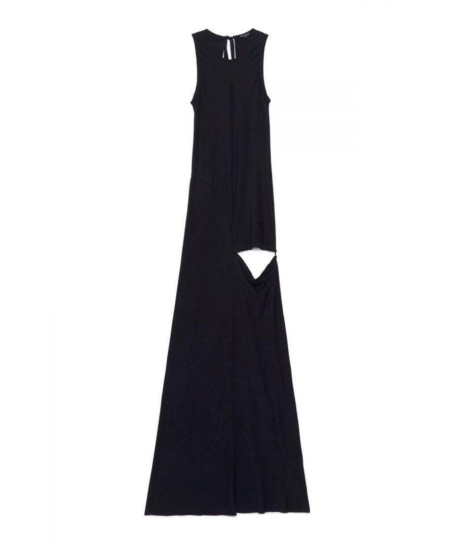 Image for ANN DEMEULEMEESTER WOMEN'S 20012362155099 BLACK VISCOSE DRESS