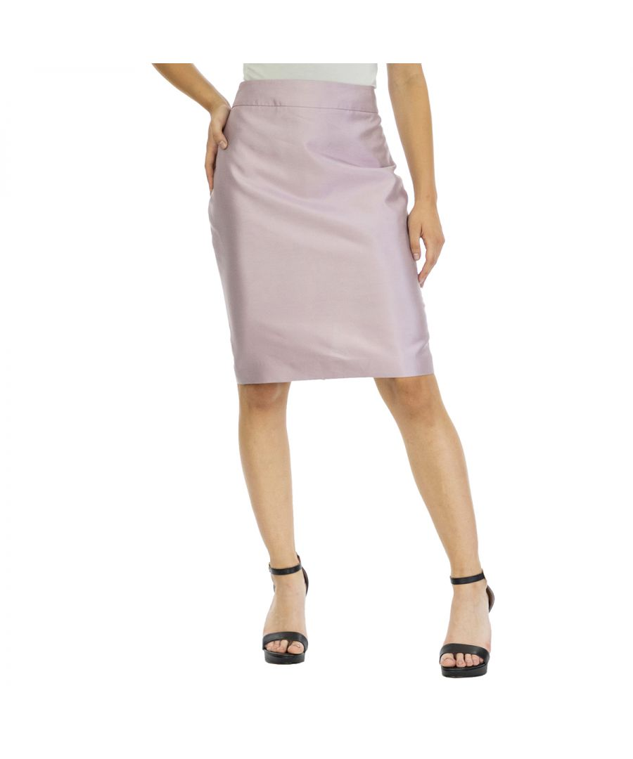 Image for Emporio Armani Women's Slim Fit Skirt in Pink