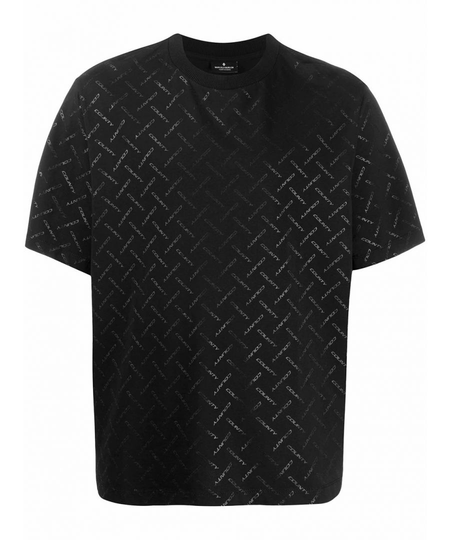 Image for MARCELO BURLON MEN'S CMAA054S20JER0051010 BLACK COTTON T-SHIRT
