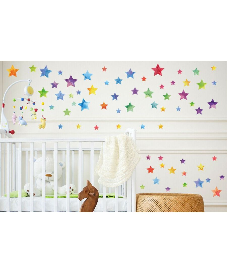 Image for Wall Art - Colourful Watercolour Stars