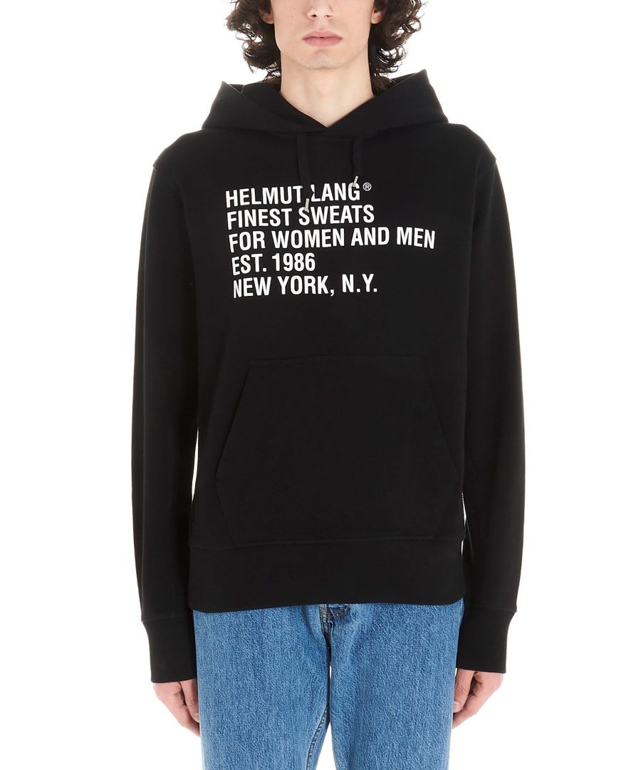 Image for HELMUT LANG MEN'S K01DM505XNU BLACK COTTON SWEATSHIRT