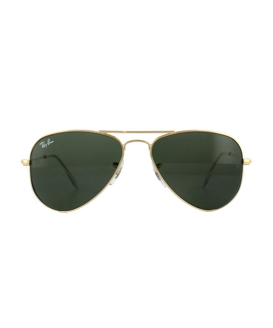 Image for Ray-Ban Sunglasses Small Aviator 3044 L0207 Gold Green