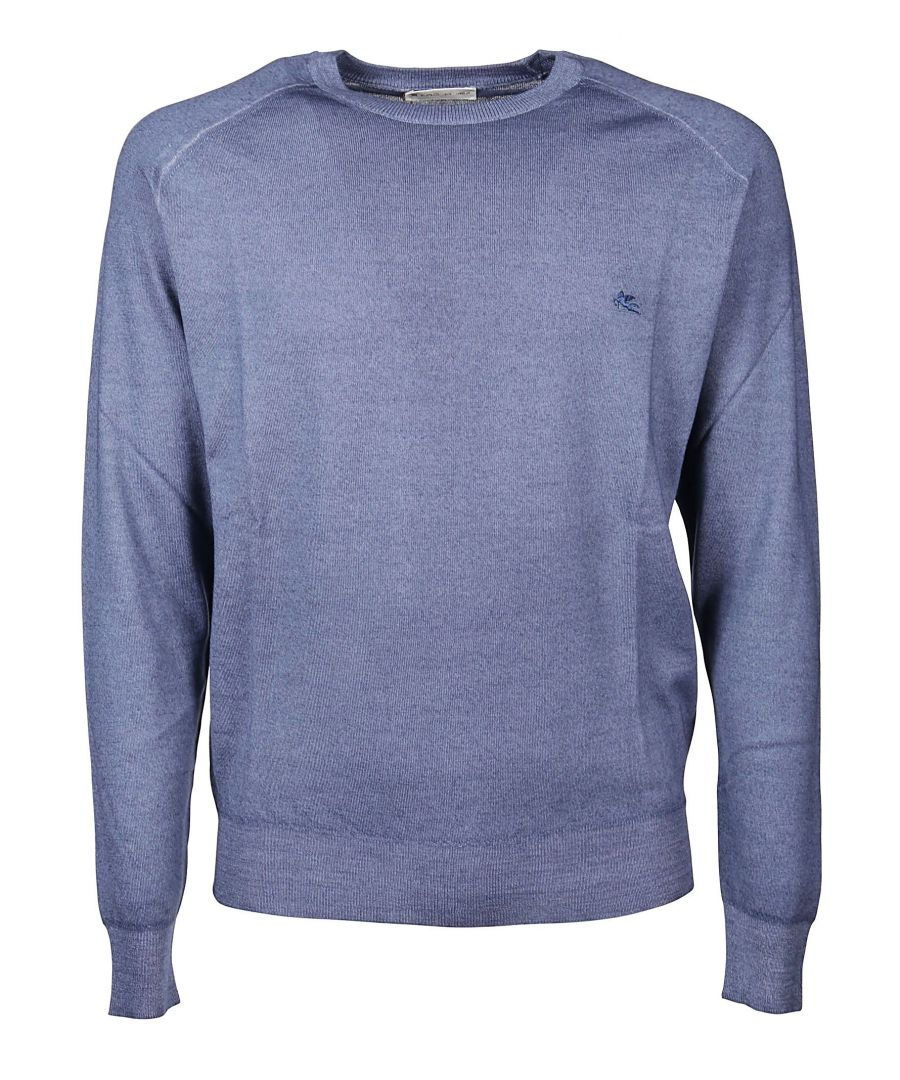 Image for ETRO MEN'S 1M50092200250 BLUE WOOL SWEATER