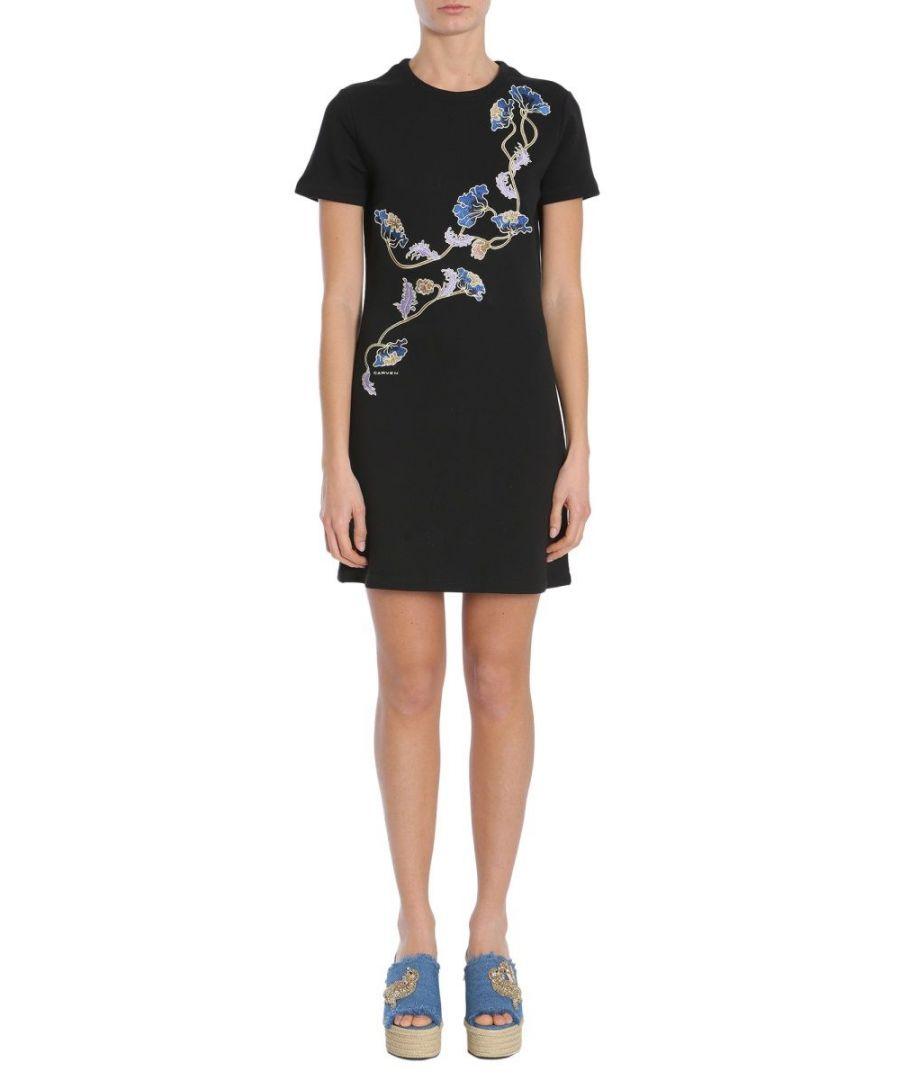Image for CARVEN WOMEN'S 7032RO410999 BLACK COTTON DRESS