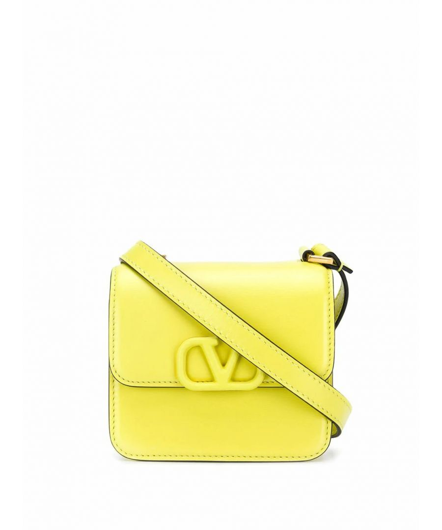 Image for VALENTINO WOMEN'S TW0B0G44HFBIC9 YELLOW LEATHER SHOULDER BAG