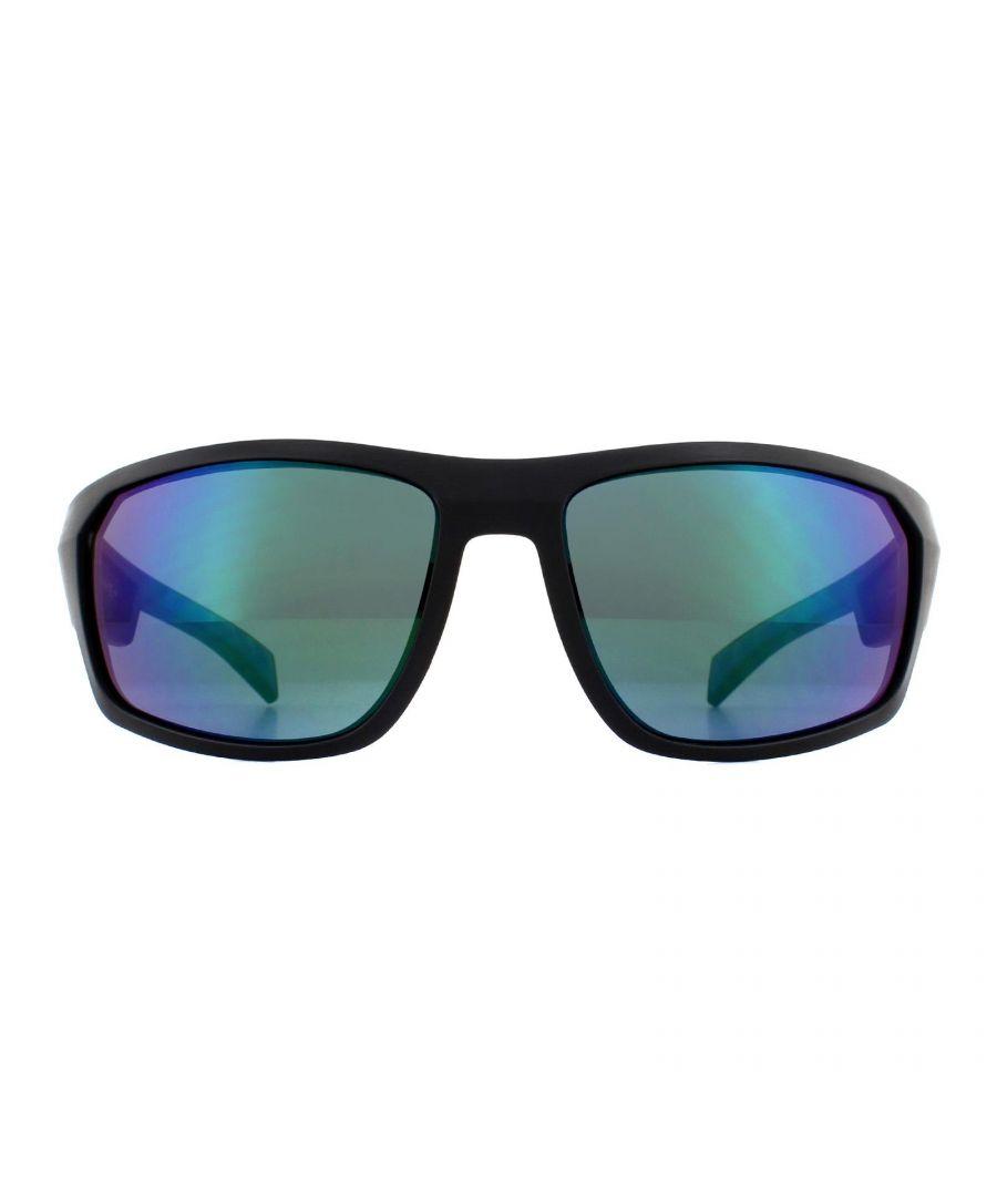 Image for Tommy Hilfiger Sunglasses TH 1722/S 0VK T5 Matte Black Blue Green Mirror