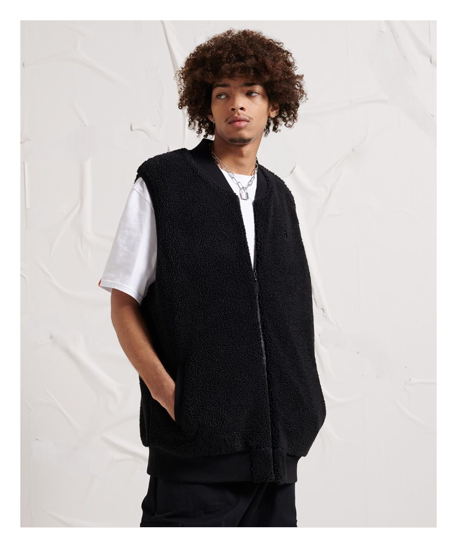 Image for Superdry Unisex Energy Class Sherpa Gilet