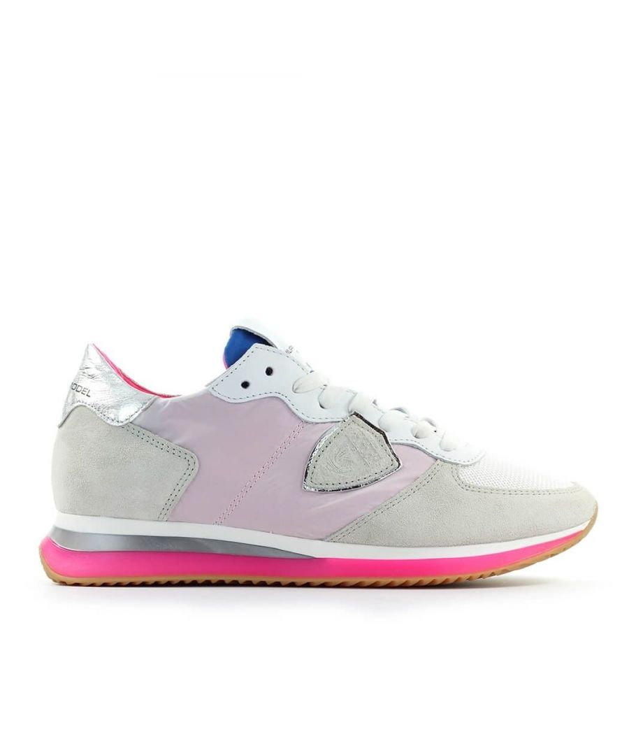 Image for PHILIPPE MODEL WOMEN'S TZLDWF11 GREY FABRIC SNEAKERS