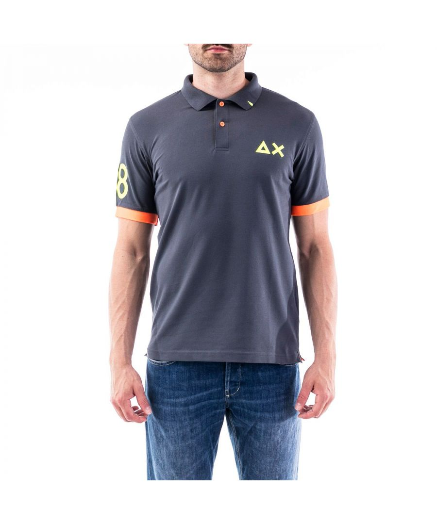 Image for SUN 68 MEN'S A3011699 GREY COTTON POLO SHIRT