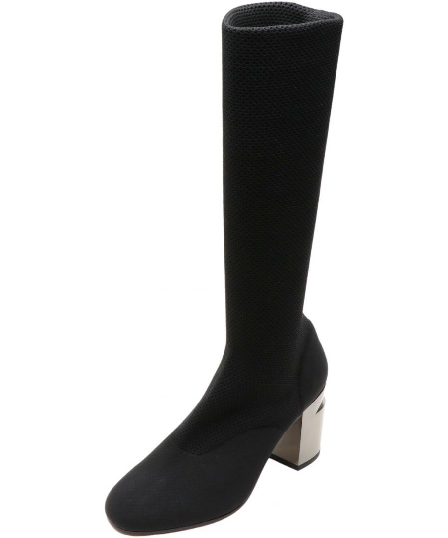 Image for Clergerie Paris Women's Kaline Black / Double Gold Thigh-high Mesh Boot - 6 M