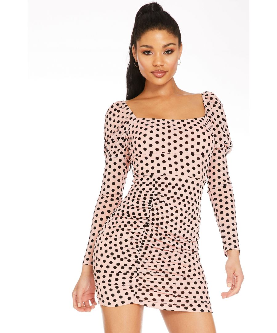 Image for Pink Mesh Puff Sleeve Dress