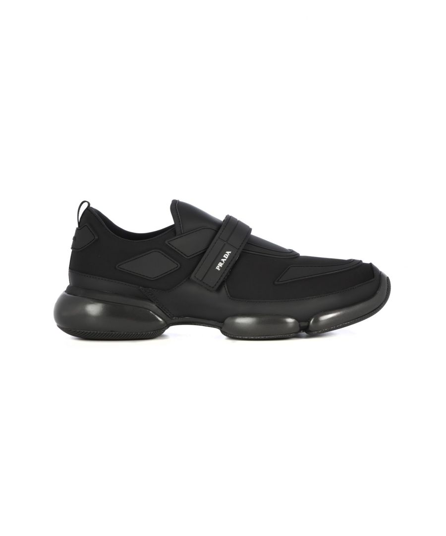 Image for PRADA MEN'S 2OG0662ODJF0002 BLACK FABRIC SNEAKERS