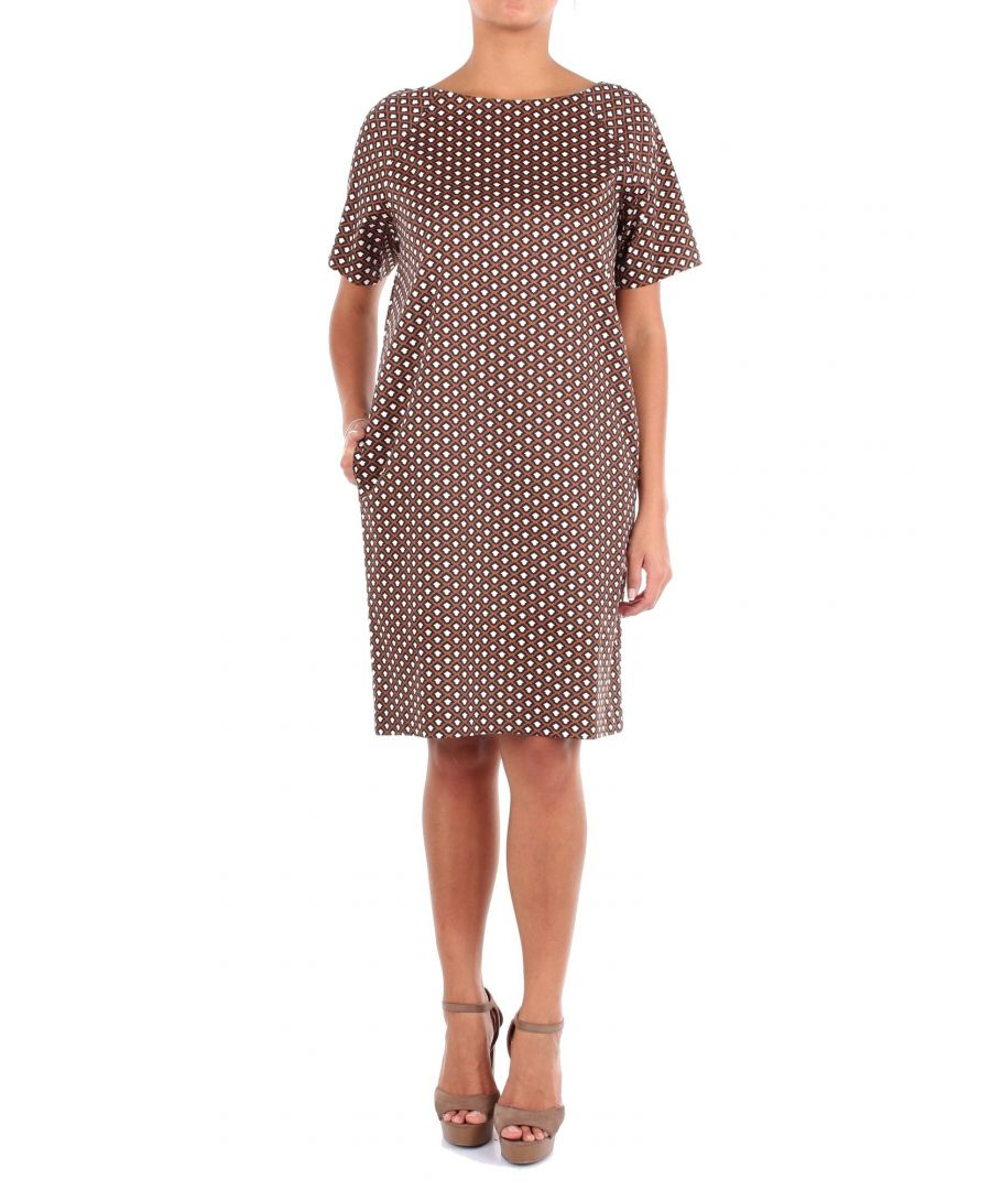 Image for ALTEA WOMEN'S 195651135 BROWN COTTON DRESS