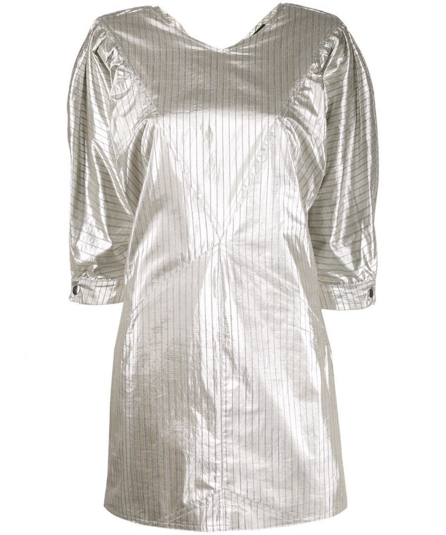 Image for ISABEL MARANT WOMEN'S RO165220P029I08SI SILVER COTTON DRESS