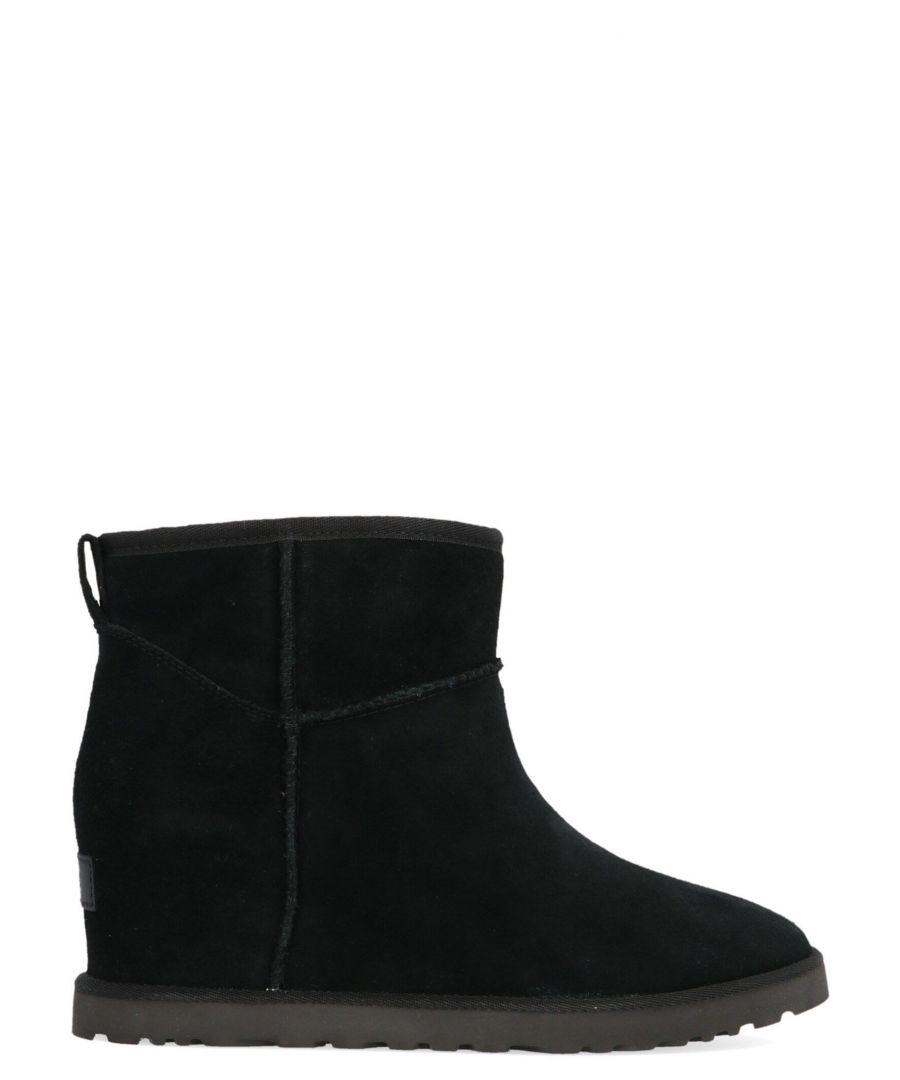 Image for UGG WOMEN'S UGSCLFMBLK1104609WBLK BLACK SUEDE ANKLE BOOTS