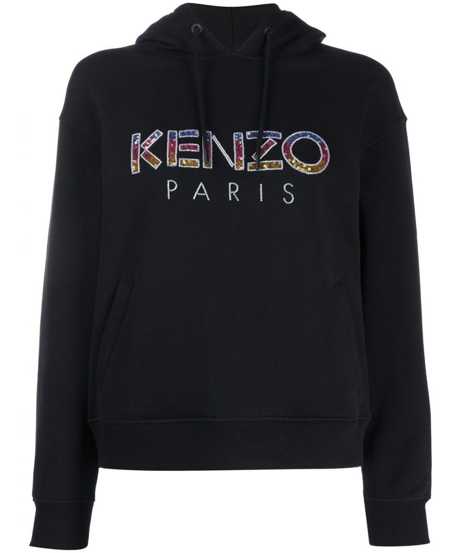 Image for KENZO WOMEN'S FA52SW86696299 BLACK COTTON SWEATSHIRT
