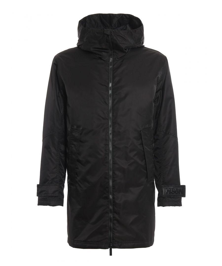 Image for HOGAN MEN'S KJM18392030RHRB999 BLACK POLYESTER COAT