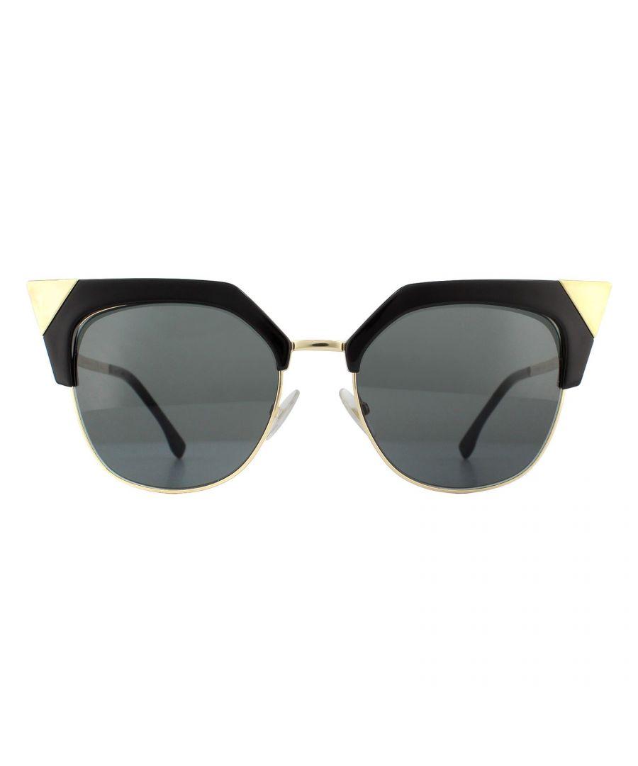 Image for Fendi Sunglasses FF 0149/S REW/P9 Black Gold Grey